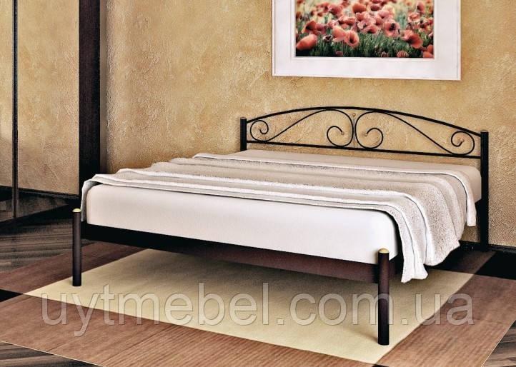 Ліжко VERONA-1 1600х2000 коричневий (МЕТАКАМ)
