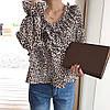 Леопардовая блузка на весну 46-48, фото 2