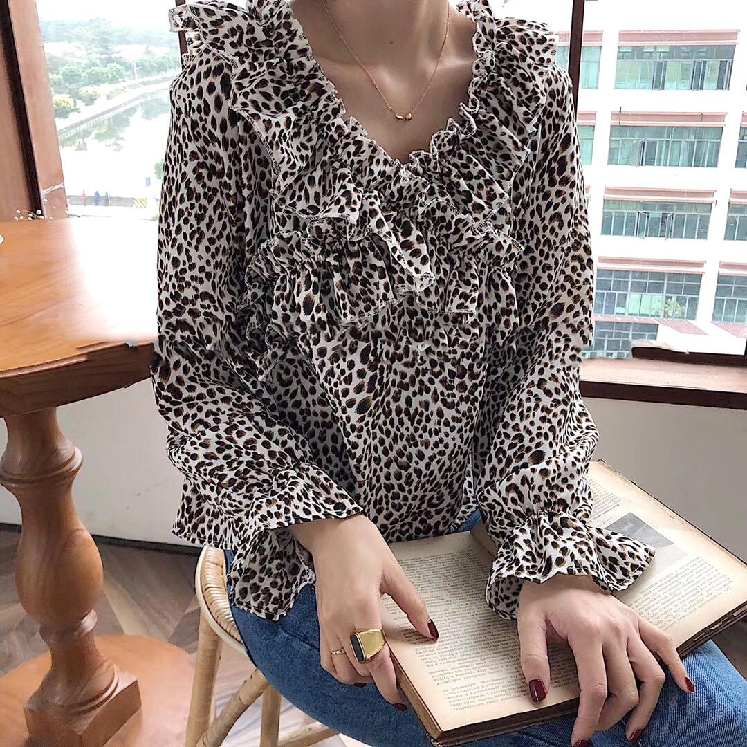 Леопардовая блузка на весну 46-48