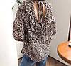 Леопардовая блузка на весну 46-48, фото 4