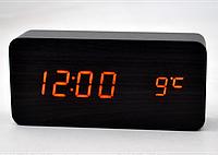 Часы настольные с оранжевой подсветкой VST-862-3