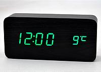 Часы настольные с зеленой подсветкой VST-862-4