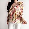 Яркая цветочная блузка штапель, фото 3