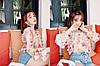 Яркая цветочная блузка штапель, фото 4