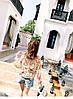 Яркая цветочная блузка штапель, фото 5