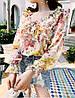 Яркая цветочная блузка штапель, фото 2
