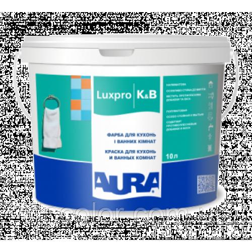 Aura Luxpro K&B Белая 10 л краска для помещений в повышенной влажностью арт.4820166521678