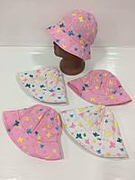 Детские панамы для девочек оптом, р52, Китай