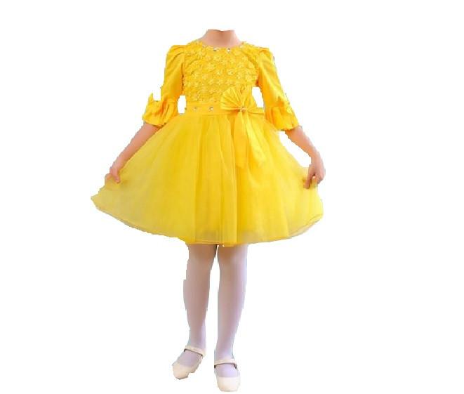 b68ff75dcd2 Детское Нарядное Платье Желтое на 6 Лет — в Категории