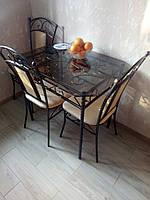 Кованый стол для кухни