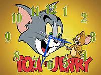 Часы настенные B 61 Том и Джерри, 30х40 для кухни, гостиной, детской, спальни. Подарок
