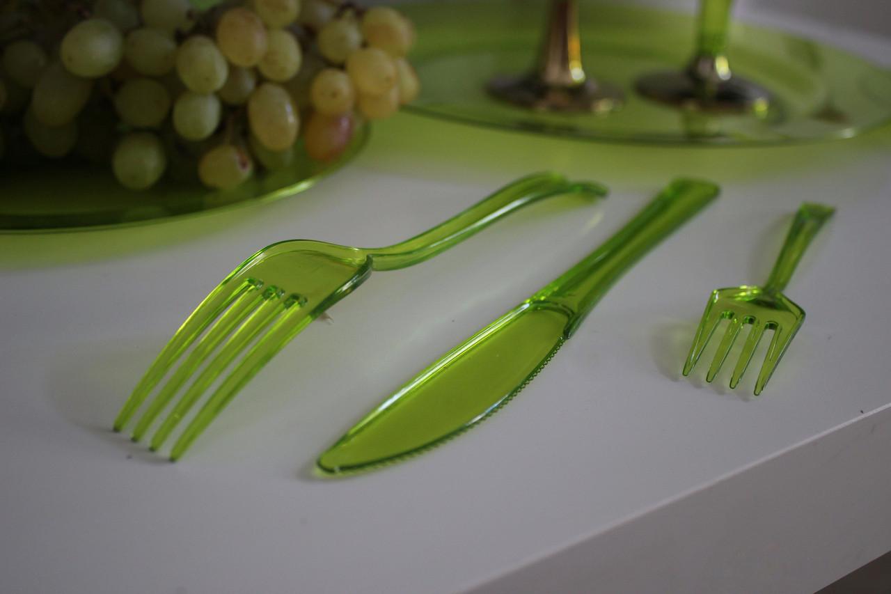 Ножи столовые пластиковые одноразовые прочные  для пикника, мангал меню, шашлык CFP 12 шт 200 мм