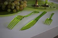 Ножи столовые пластиковые одноразовые прочные  для пикника, мангал меню, шашлык CFP 12 шт 200 мм, фото 1