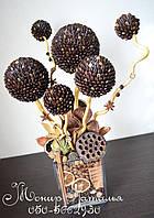 Кофейное дерево с декором из сухоцветов