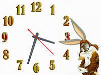 Часы настенные B 66, 30х40 для кухни, гостиной, детской, спальни. Подарок