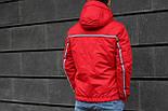 Мужская демисезонная куртка с капюшоном красная Т2 . Фото в живую, фото 2