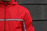 Мужская демисезонная куртка с капюшоном красная Т2 . Фото в живую, фото 3