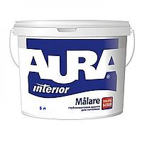Aura Malare 5 л, белая воднодисперсионная краска для внутренних работ арт.4820166520169