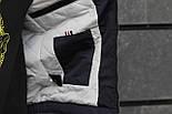 Мужская демисезонная куртка с капюшоном темно синяя Т2 . Фото в живую, фото 3