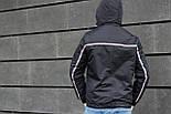 Мужская демисезонная куртка с капюшоном темно синяя Т2 . Фото в живую, фото 5