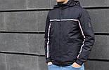 Мужская демисезонная куртка с капюшоном темно синяя Т2 . Фото в живую, фото 6