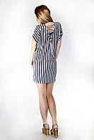 Женское платье в полоску шнуровка