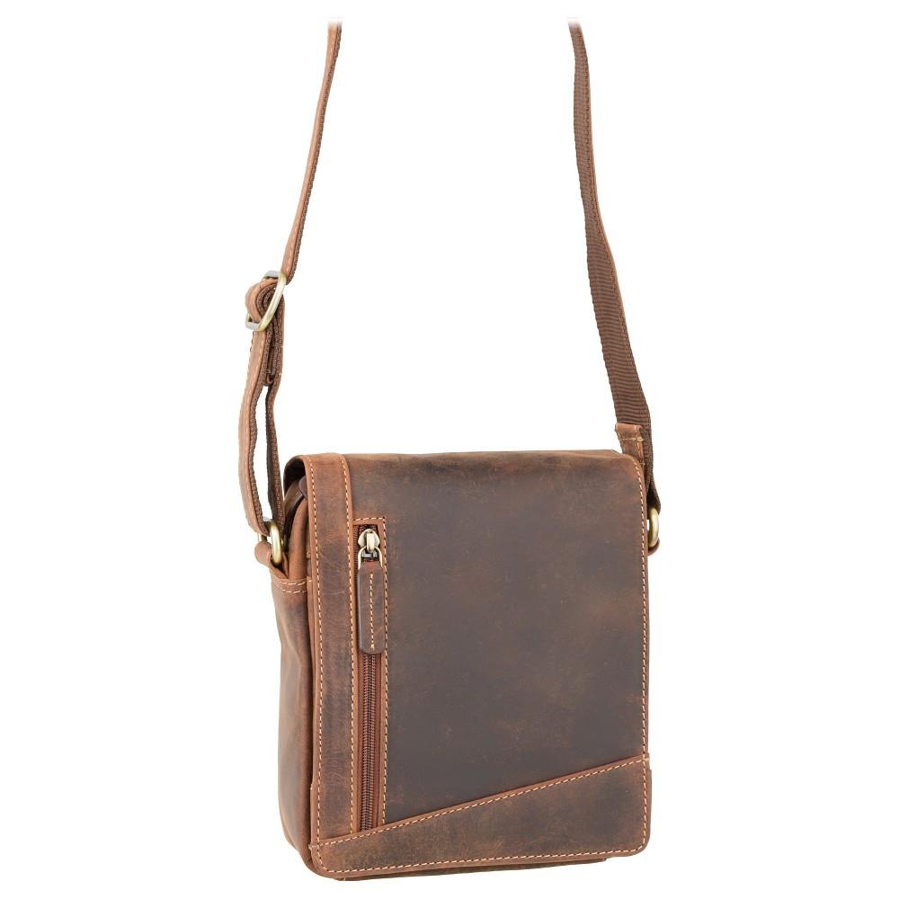 Небольшая мужская сумка Visconti S7 oil tan (Великобритания)