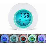 Часы будильник со звуками природы ART-502 (80 шт/ящ), фото 3