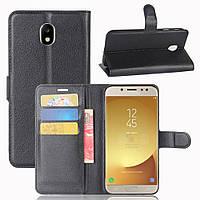 Чехол-книжка Litchie Wallet для Samsung J730 Galaxy J7 2017 Черный