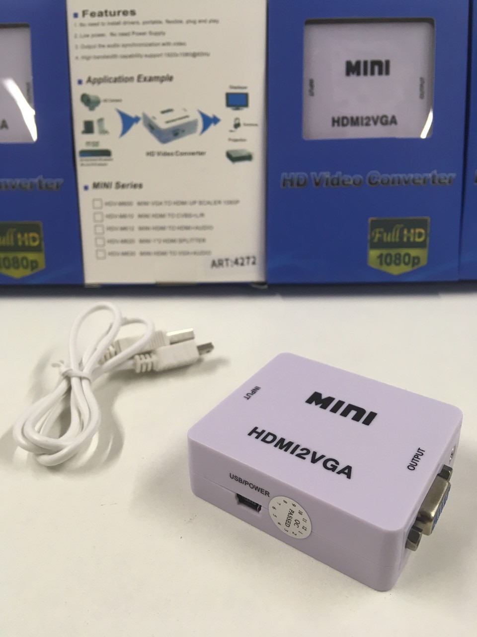 Конвертер HDMI to VGA/ VGA 001 ART-4272 (100 шт)