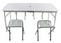 Набор стол и четыре стула (туристический,раскладной)