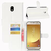 Чехол-книжка Litchie Wallet для Samsung J730 Galaxy J7 2017 Белый