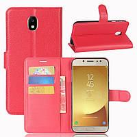 Чехол-книжка Litchie Wallet для Samsung J730 Galaxy J7 2017 Красный