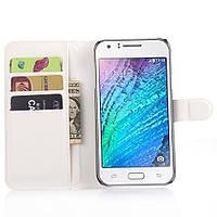 Чехол-книжка Litchie Wallet для Samsung J700 Galaxy J7 Белый