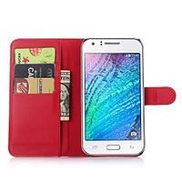 Чехол-книжка Litchie Wallet для Samsung J700 Galaxy J7 Красный