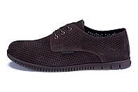 Мужские кожаные летние туфли, перфорация ZG  Man  Brown  , фото 1