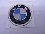 Наклейка s круглая BMW 40х40х1.6мм силиконовая эмблема логотип марка бренд в круге на авто 3М БМВ, фото 2
