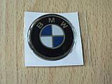 Наклейка s круглая BMW 40х40х1.6мм силиконовая эмблема логотип марка бренд в круге на авто 3М БМВ, фото 3