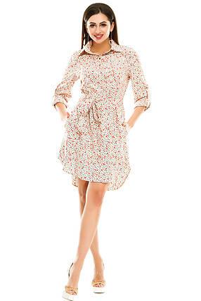 Платье- рубашка 5274 розовая , фото 2