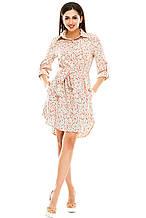 Платье- рубашка 5274 розовая размер 50