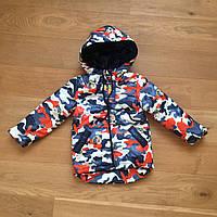 Весенняя курточка на мальчика 110,116 цветной камуфляж M101