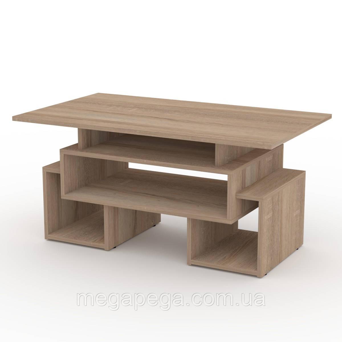 Журнальный стол Тандем (столешница торцована кромкой АБС-2 мм)