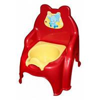 Горшок детский красный /Код 4165