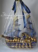"""Корабль из конфет """"Секрет пирата"""""""