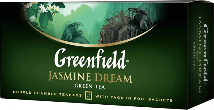 Чай зеленый с жасмином Greenfield Jasmine Dream 25 пак.
