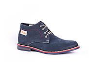 Мужские Зимние ботинки Marko синие из натуральной кожи