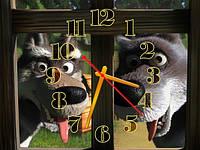 Часы настенные B 81  Маша и Медведь, 30х40 для кухни, гостиной, детской, спальни. Подарок