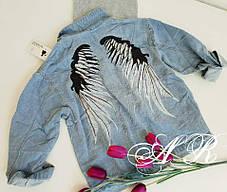 """Модная и стильная джинсовка """"Ангел"""".Капюшон съёмный!!! Размер 44-48, фото 3"""