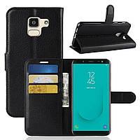 Чехол-книжка Litchie Wallet для Samsung J600 Galaxy J6 2018 Черный