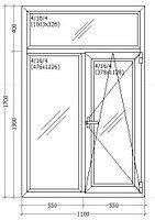 Окно металлопластиковое 1100*1700 мм
